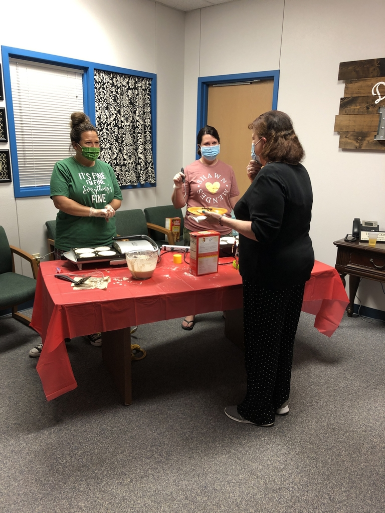 Last week, principals celebrated teachers by giving them a PJ and Pancakes Day!