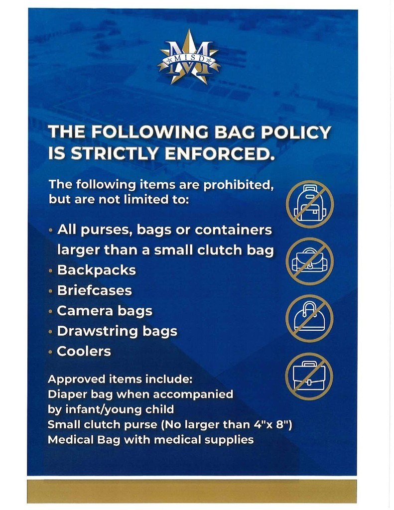 MISD Bag Policy