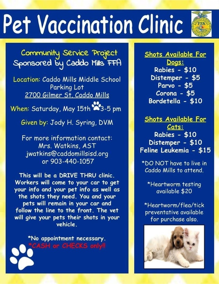 FFA Pet Vaccination Clinic